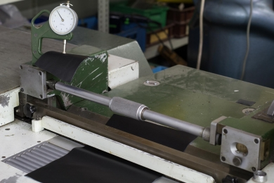 <p>Some leather parts need to thinned with the splitting machine</p>