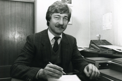 <h5>1977</h5><p>Wolfgang Rupp, Sohn des Firmengründers, tritt in das Unternehmen ein.</p>
