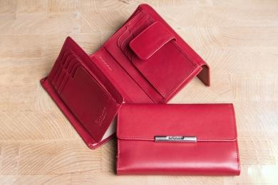 <h5>1323 50</h5><p>Damenbörse in schwarz und rot mit Cardsafe System und RFID - Protect mit 15 Kreditkartenfächern, 2 Ausweisfächern, 3 Steckfächern, doppeltem Scheinfach und Münzfach. Maße: 14,5 x 10 cm</p>
