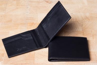 <h5>3925 45</h5><p>Kreditkartenetui in schwarz mit Cardsafe System und RFID Protect, 8 Kreditkartenfächern, 6 Ausweisfächern und doppeltes Scheinfach. Maße: 12 x 9,5 cm</p>